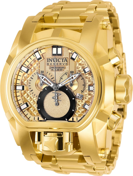 Invicta Men's 25210 Reserve Quartz Chronograph Gold Dial Watch