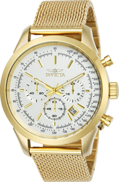 Invicta Men's 25225 Speedway Quartz Chronograph Silver Dial Watch