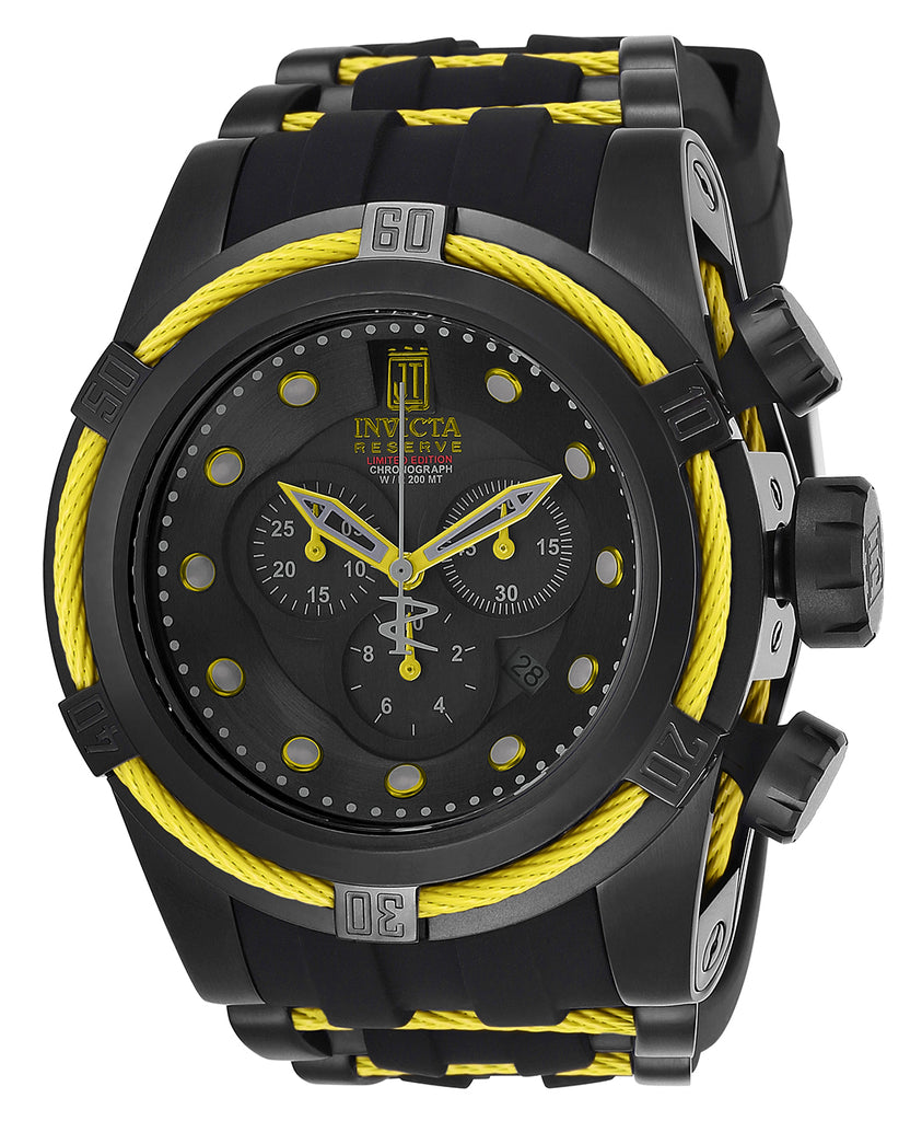 Invicta Men's 25232 Jason Taylor Quartz Chronograph Black Dial Watch