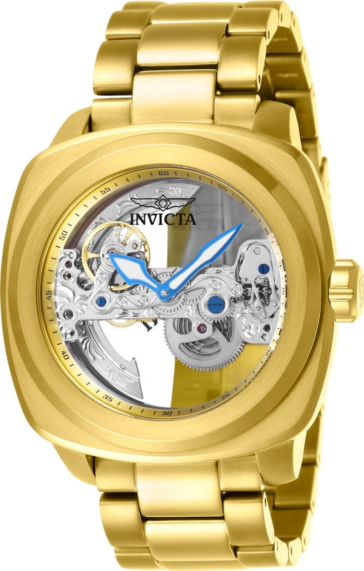 Invicta Men's 25235 Aviator Automatic 3 Hand Gold Dial Watch