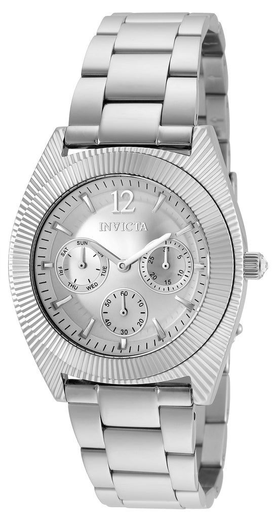 Invicta Women's 25247 Angel Quartz Chronograph Silver Dial Watch