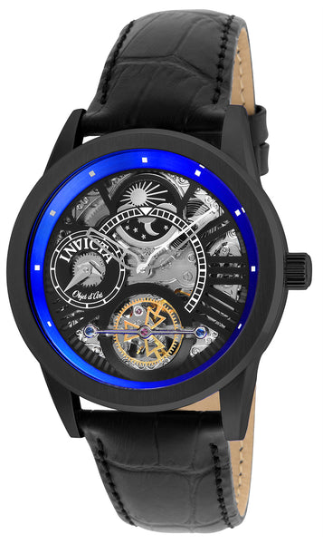 Invicta Men's 25262 Objet D Art Automatic 3 Hand Black, Blue Dial Watch