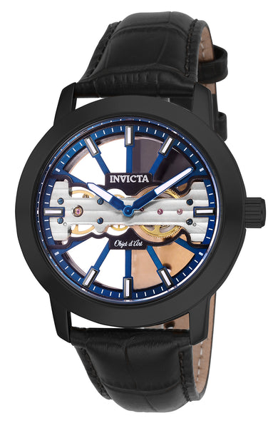 Invicta Men's 25268 Objet D Art Mechanical 2 Hand Blue, Black Dial Watch