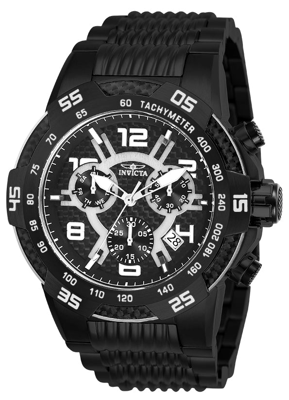 Invicta Men's 25288 Speedway Quartz Multifunction Black Dial Watch
