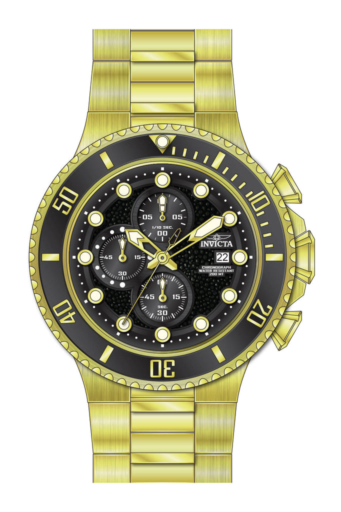 Invicta Men's 25298 Pro Diver Quartz Multifunction Black Dial Watch