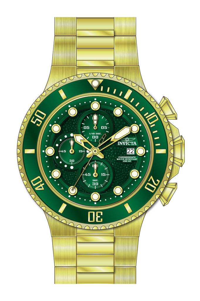 Invicta Men's 25299 Pro Diver Quartz Multifunction Green Dial Watch