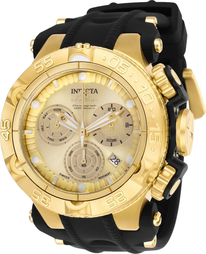 Invicta Men's 25352 Subaqua Quartz Chronograph Gold Dial Watch
