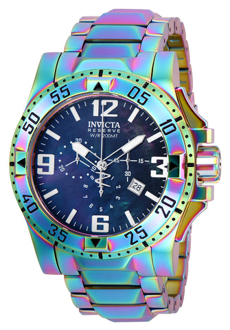 Invicta Men's 25363 Reserve Quartz 3 Hand Black Dial Watch