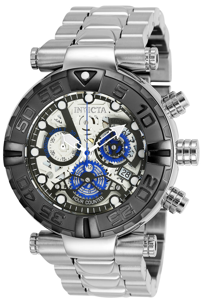 Invicta Men's 25406 Subaqua Quartz Chronograph Gunmetal, Silver Dial Watch
