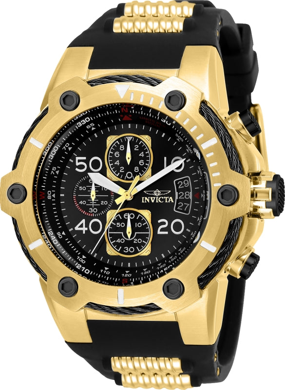 Invicta Men's 25468 Bolt Quartz Multifunction Black Dial Watch