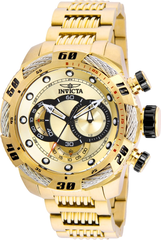 Invicta Men's 25482 Speedway Quartz Chronograph Gold Dial Watch