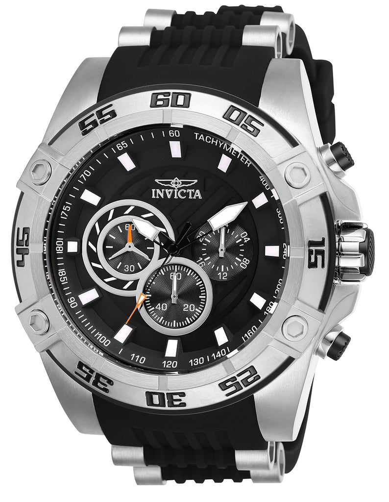 Invicta Men's 25505 Speedway Quartz Multifunction Black Dial Watch