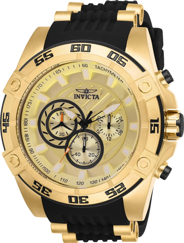 Invicta Men's 25507 Speedway Quartz Multifunction Gold Dial Watch