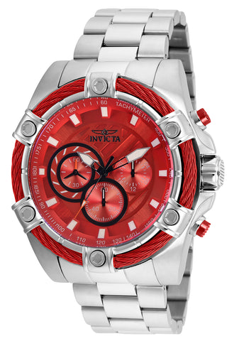 Invicta Men's 25514 Bolt Quartz Chronograph Red Dial Watch