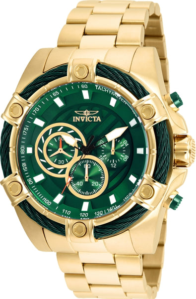 Invicta Men's 25517 Bolt Quartz Chronograph Green Dial Watch