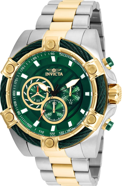 Invicta Men's 25519 Bolt Quartz Chronograph Green Dial Watch
