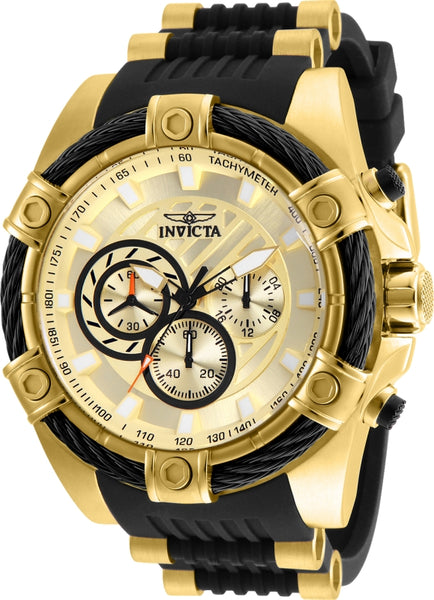 Invicta Men's 25526 Bolt Quartz Chronograph Gold Dial Watch