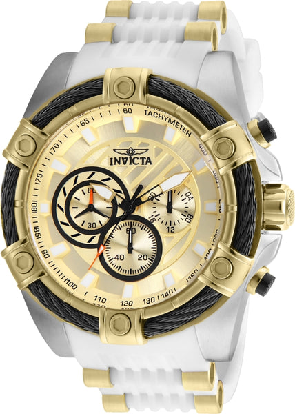 Invicta Men's 25528 Bolt Quartz Chronograph Gold Dial Watch