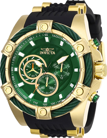 Invicta Men's 25532 Bolt Quartz Chronograph Green Dial Watch