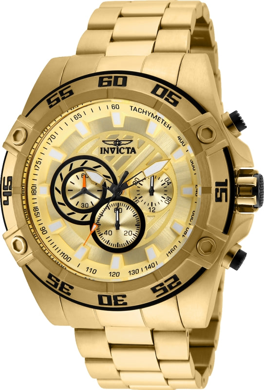 Invicta Men's 25535 Speedway Quartz Chronograph Gold Dial Watch