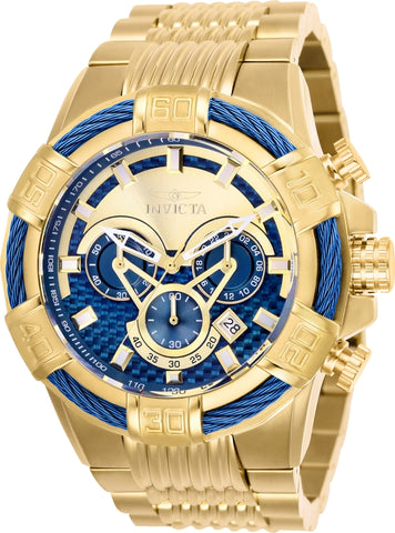 Invicta Men's 25542 Bolt Quartz Chronograph Blue Dial Watch