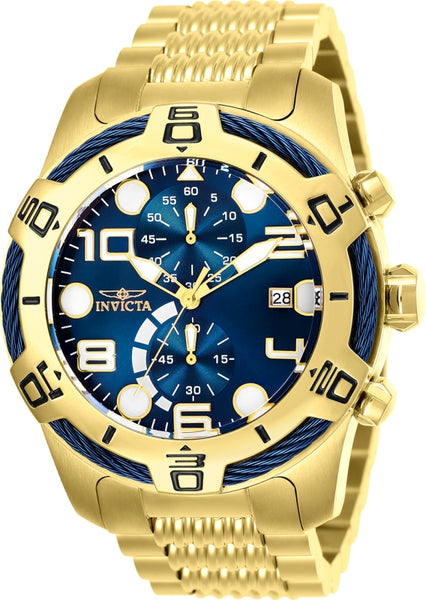 Invicta Men's 25549 Bolt Quartz Chronograph Blue Dial Watch
