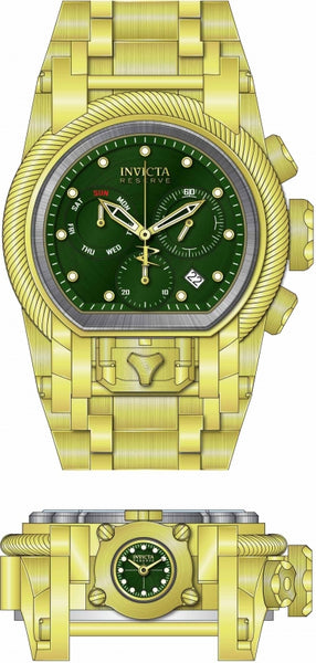 Invicta Men's 25606 Reserve Quartz Chronograph Green Dial Watch