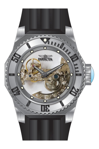 Invicta Men's 25611 Russian Diver Automatic 3 Hand Silver Dial Watch