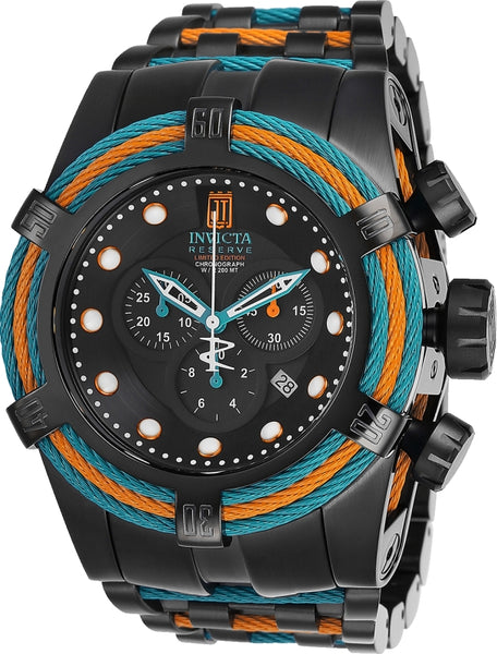 Invicta Men's 25615 Jason Taylor Quartz Chronograph Black Dial Watch