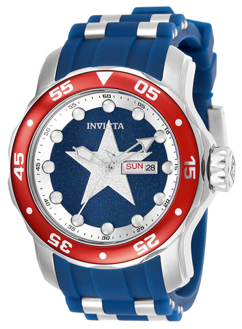 Invicta Men's 25703 Marvel Quartz 3 Hand Blue Dial Watch