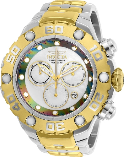 Invicta Men's 25718 Excursion Quartz Chronograph White, Rainbow Dial Watch