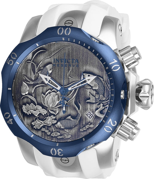 Invicta Men's 25722 Reserve Quartz 3 Hand Black, Blue Dial Watch