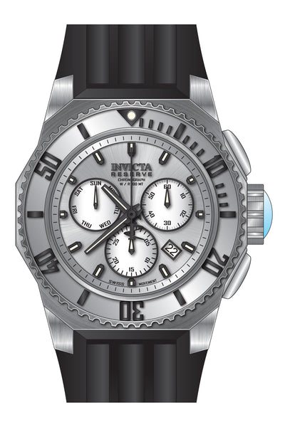 Invicta Men's 25730 Russian Diver Quartz Chronograph Silver Dial Watch