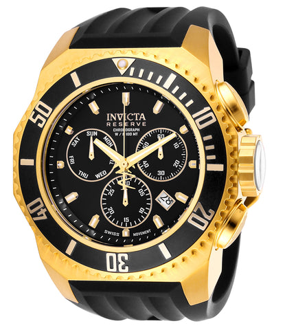 Invicta Men's 25731 Russian Diver Quartz Chronograph Black Dial Watch