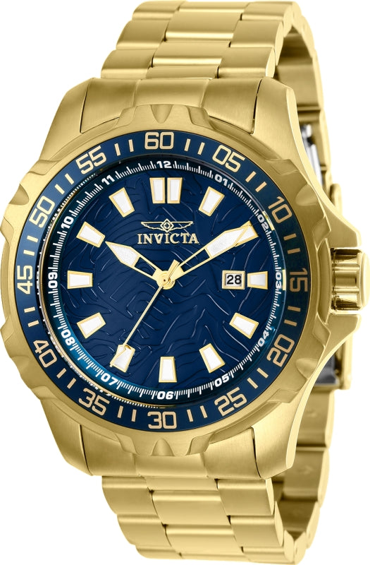Invicta Men's 25793 Pro Diver Quartz 3 Hand Blue Dial Watch