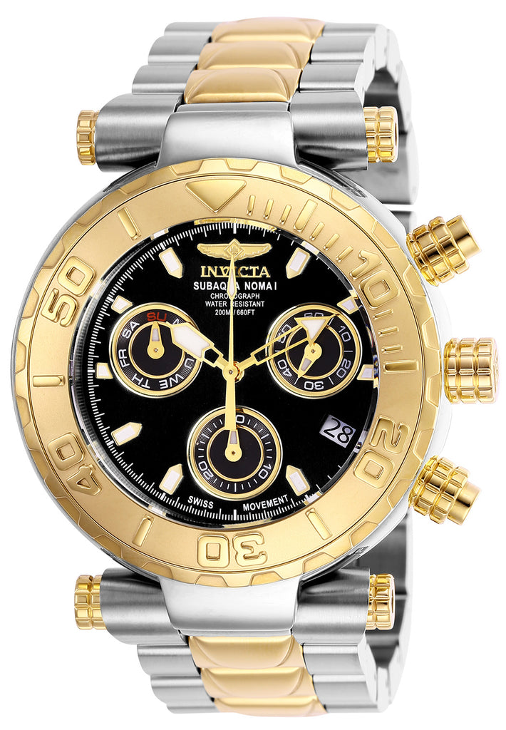Invicta Men's 25803 Subaqua Quartz Chronograph Black Dial Watch