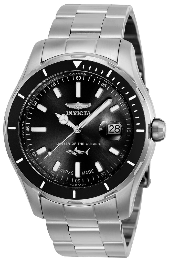 Invicta Men's 25806 Pro Diver Quartz 3 Hand Black Dial Watch