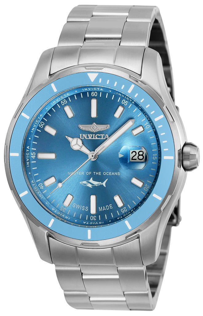Invicta Men's 25809 Pro Diver Quartz 3 Hand Metallic Blue Dial Watch