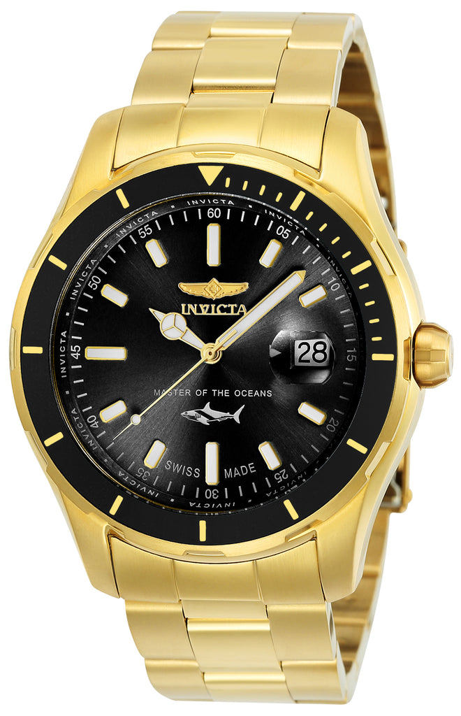 Invicta Men's 25810 Pro Diver Quartz 3 Hand Black Dial Watch
