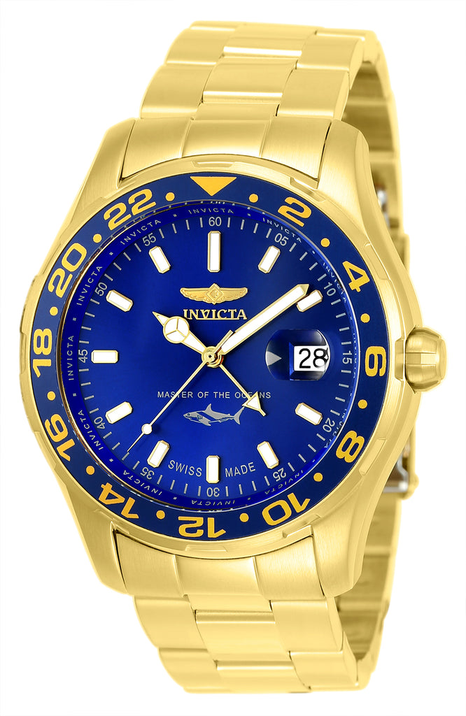 Invicta Men's 25823 Pro Diver Quartz 3 Hand Blue Dial Watch