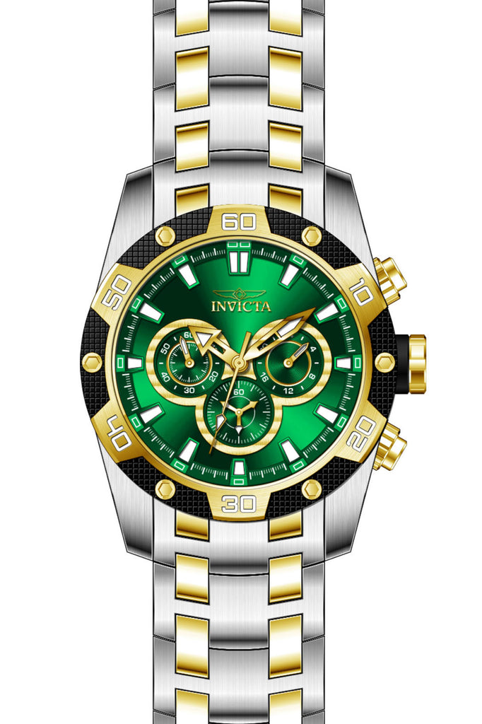 Invicta Men's 25844 Speedway Quartz Chronograph Green Dial Watch