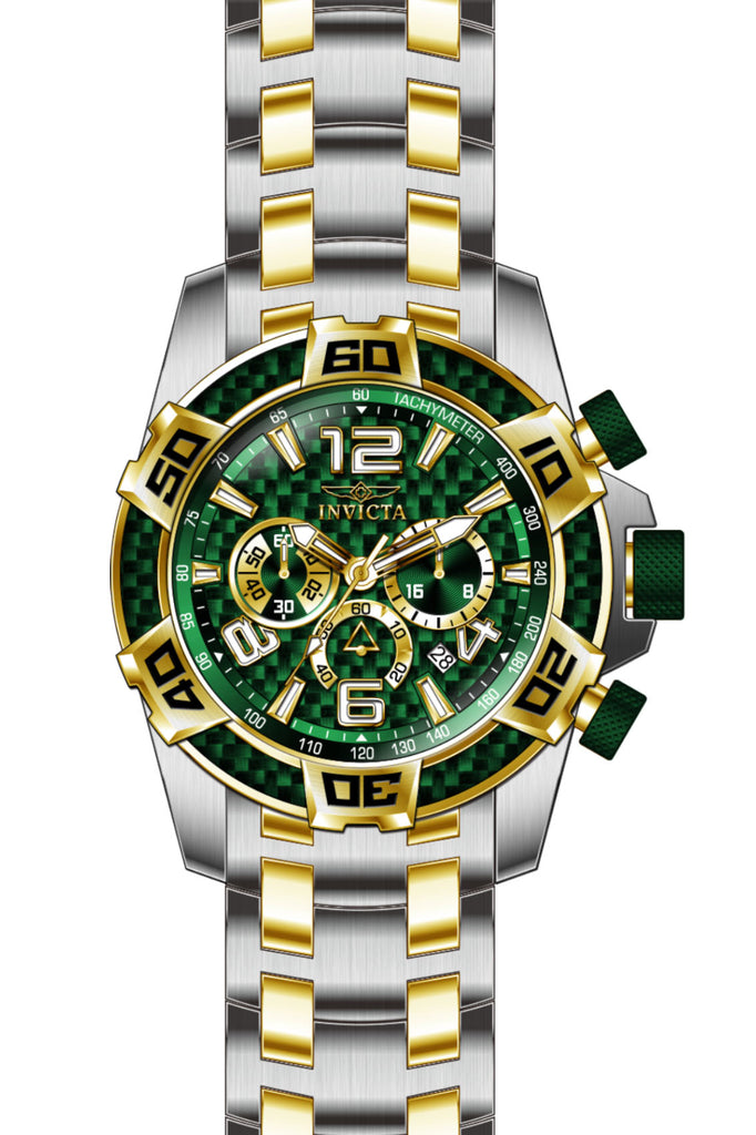 Invicta Men's 25857 Pro Diver Quartz Chronograph Green Dial Watch