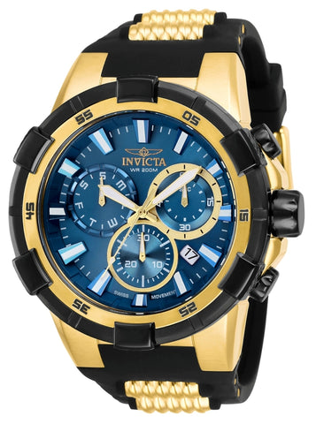 Invicta Men's 25858 Aviator Quartz Chronograph Blue Dial Watch