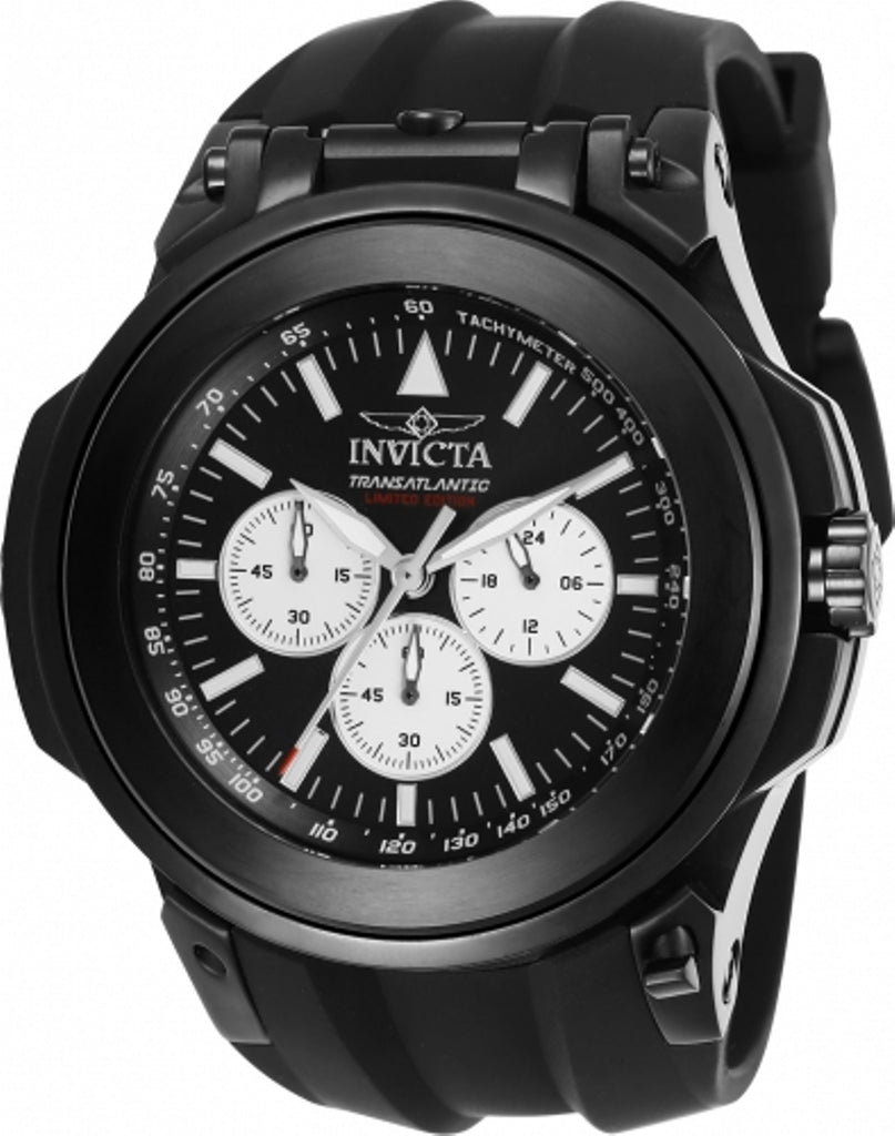 Invicta Men's 25928 Reserve Quartz Chronograph Black, Green Dial Watch