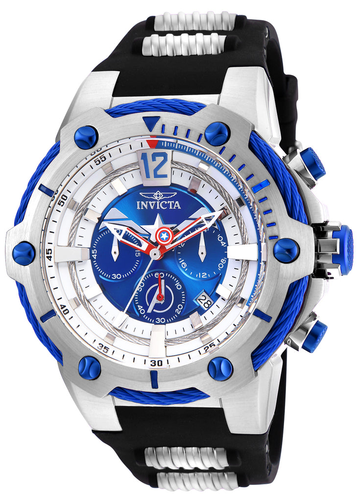 Invicta Men's 25988 Marvel Quartz Chronograph Blue Dial Watch