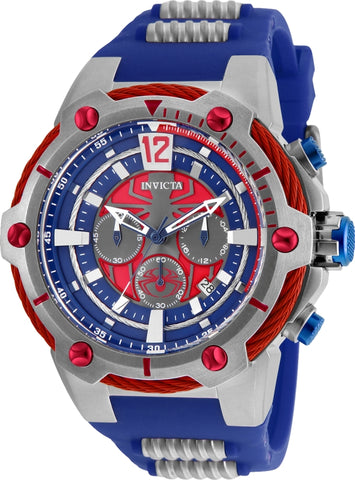 Invicta Men's 25989 Marvel Quartz Chronograph Blue Dial Watch