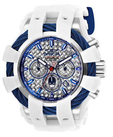 Invicta Men's 26010 Marvel Quartz Chronograph Silver Dial Watch