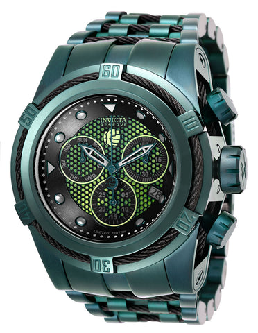 Invicta Men's 26013 Marvel Quartz Multifunction Black, Green Dial Watch