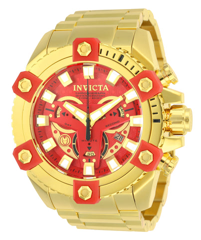 Invicta Men's 26014 Marvel Quartz Chronograph Red Dial Watch