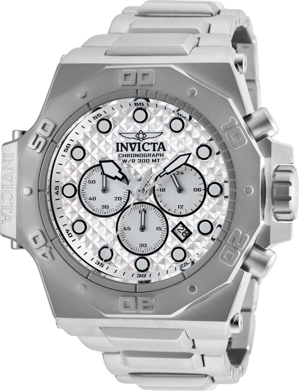Invicta Men's 26040 Akula Quartz Chronograph Silver Dial Watch